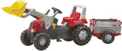 Rolly Toys Junior pedálos markolós traktor utánfutóval (811397)
