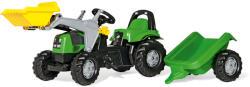 Rolly Toys Rolly Kid Deutz-Fahr pedálos markolós traktor utánfutóval (023196)