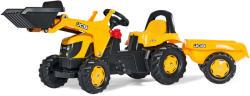 Rolly Toys Kid JCB pedálos markolós traktor utánfutóval (023837)