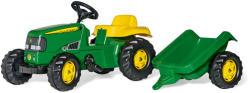 Rolly Toys Kid John Deere pedálos traktor utánfutóval (012190)