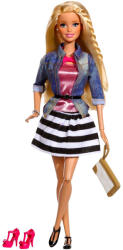 Mattel Barbie - Fashionistas - Barbie luxus divatbaba csíkos szoknyában (CFM75)