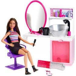 Mattel Csodahaj Barbie szalonok - Szalon, barna hajú Barbie lánnyal (DMM65)