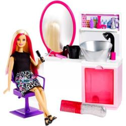 Mattel Csodahaj Barbie szalonok - Szalon, szőke hajú Barbie lánnyal