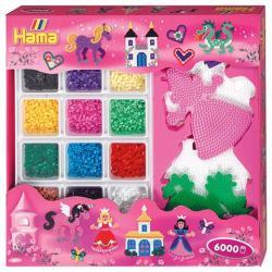 Hama Midi 5 tábla vasalható gyöngy készlet lányoknak 6000db-os