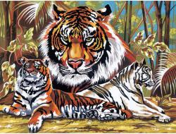 Reeves Festés számok után - Tigris
