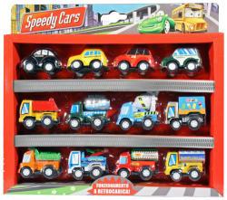 Globo Speedy Cars - személy- és teherautók - 12 db-os készlet