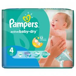 Pampers Active Baby-Dry 4 Maxi (7-14kg) 36db