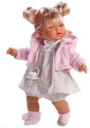 Llorens Heidi síró baba rózsaszín kardigánnal - 33 cm