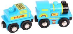 Bigjigs Toys Kék ABC mozdony BJT411