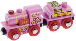 Bigjigs Toys Rózsaszín 123 mozdony