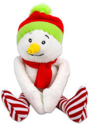 TY Inc Karácsonyi plüssfigura  hóember, 12cm (BEAR-SX5062)