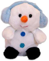 TY Inc Karácsonyi plüssfigura - hóember, 10cm (BEAR-SX0048)