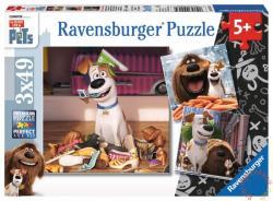Ravensburger A kis kedvencek titkos élete - 3 az 1-ben puzzle szett 3x49 db-os (094134)
