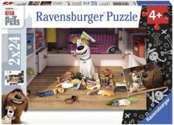 Ravensburger A kis kedvencek titkos élete - 2 az 1-ben puzzle szett 2x24 db-os (09110)