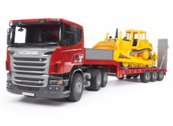 BRUDER Scania R tréler és CAT bulldózer (03555)