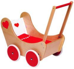 Goki Fa játék babakocsi ágyneművel