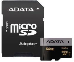 ADATA microSDHC Premier Pro 64GB C10/UHS-I/U3 AUSDX64GUI3CL10-RA1