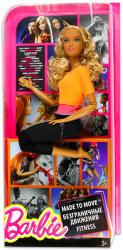 Mattel Barbie - Hajlékony jógababa szőke, göndör hajjal