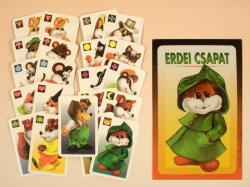 Erdei csapat kártya