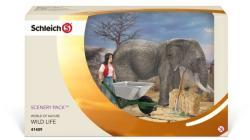 Schleich Elefántápoló Szett (41409)