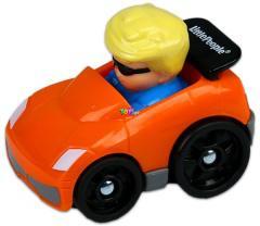 Fisher-Price Little People autópajtások - Narancssárga sportautó