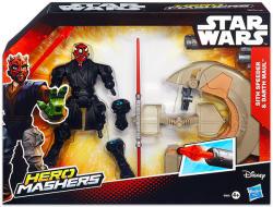 Hasbro Hero Mashers Star Wars Sith Speeder és Darth Maul (B3832)