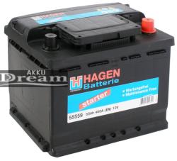 Exide Hagen 55Ah 460A jobb+