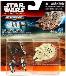 Hasbro Star Wars 7 Micromachines Elsőrendű Vadász Vs Millennium Falcon (B3503)