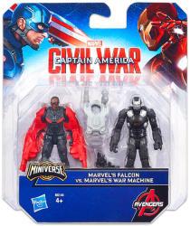 Hasbro Amerika Kapitány Polgárháború Minifigurák Sólyom és Hadigép (B6144)