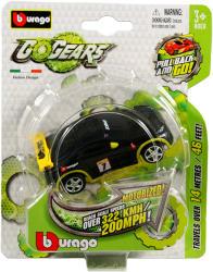 Bburago Go Gears hátrahúzós kisautók - fekete sportautó