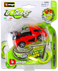 Bburago Go Gears hátrahúzós kisautók - piros-fekete versenyautó