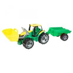 LENA Nagy traktor utánfutóval, homlokrakodóval (02123)