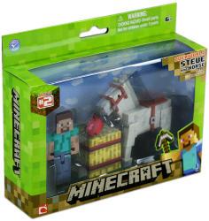 Jazwares Minecraft Steve Fehér Lóval