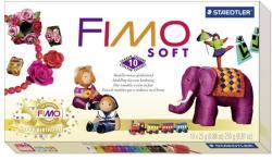 FIMO Soft Retro Material Pack égethető gyurma készlet - vegyes színek 10x25g (FM802310P)