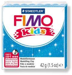 FIMO Kids égethető gyurma - glitteres kék 42g (FM8030312)