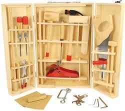 Bigjigs Toys Asztalos készlet fa szerszámokkal (BJ410)