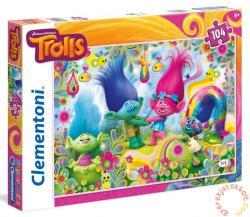Clementoni Szuper Színes puzzle - Trollok - Sütik és szivárványok 104 db-os (27967)