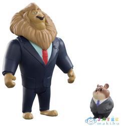 TOMY Zootropolis Mayor Lionheart és Lemming Businessman