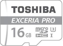 Toshiba MicroSDHC Exceria Pro 16GB THN-M401S0160E2