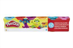 Hasbro Play-Doh Világos színek 4+2 tégelyes gyurma készlet