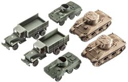 Revell US Army vehicles M4 Sherman & M8 Greyhound & CCKW Truck 1/144 (3350)