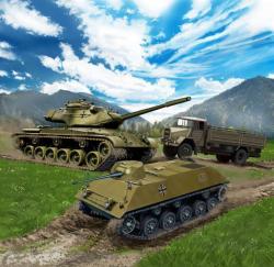 Revell Bundeswehr Vehicles M47 Patton & HS30 & LKW 1/144 (3351)