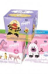 Bella Baby Happy papírzsebkendő fehér-sárga 20 x 40db
