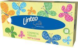 Linteo Zsebkendők dobozban 2 rétegű fehér 100db