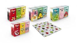 Angry Birds Papírzsebkendő 4 rétegű 6 x 9db