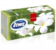 Zewa Softis Design dobozos papírzsebkendő 4 rétegű 80db
