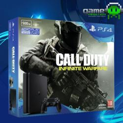 Sony PlayStation 4 Slim Jet Black 500GB (PS4 Slim 500GB) + Call of Duty Infinity Warfare