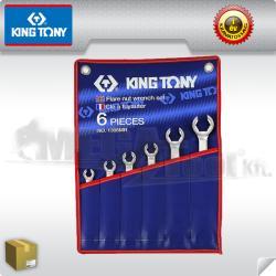 KING TONY Fékcsőkulcs készlet 6darabos 5/16-7/8col (1306SR)