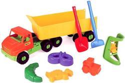 Wader Nyerges kamion homokozószettel 68cm