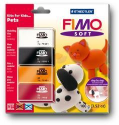 FIMO Soft Kids égethető gyurmakészlet - állat 4x25g (8024-34)
